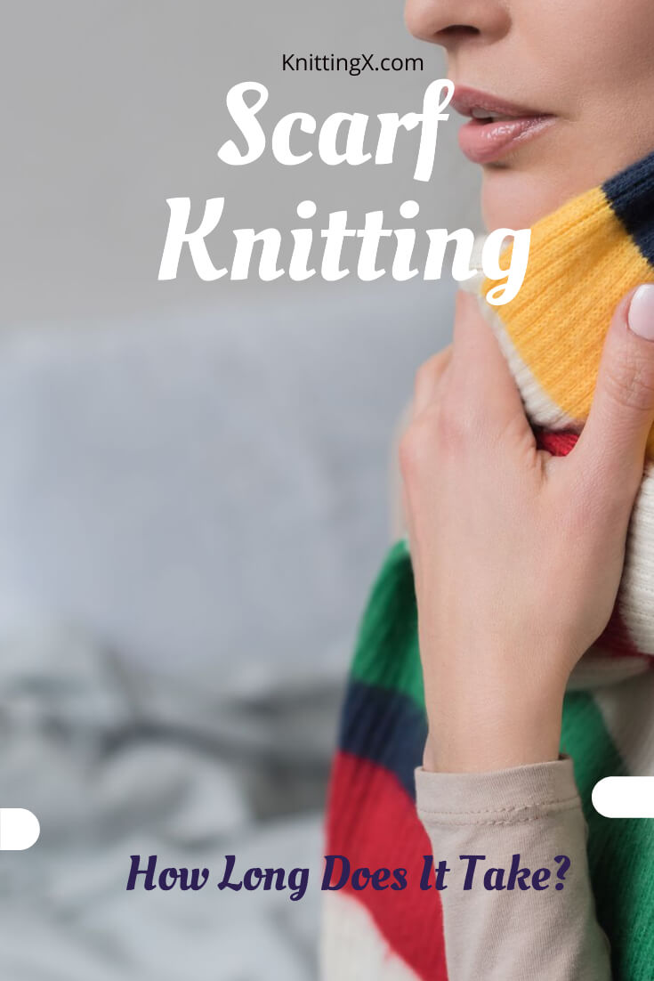 How long does it take to knit a scarf?