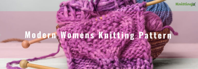 Modern Womens Knitting Pattern